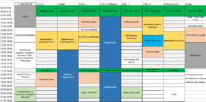 Ray Maor Pranic Living Schedule